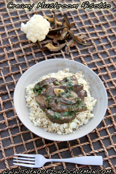 Creamy Mushroom Risotto From the KetoDiet Cookbook - http://amzn.to/1QlDADh