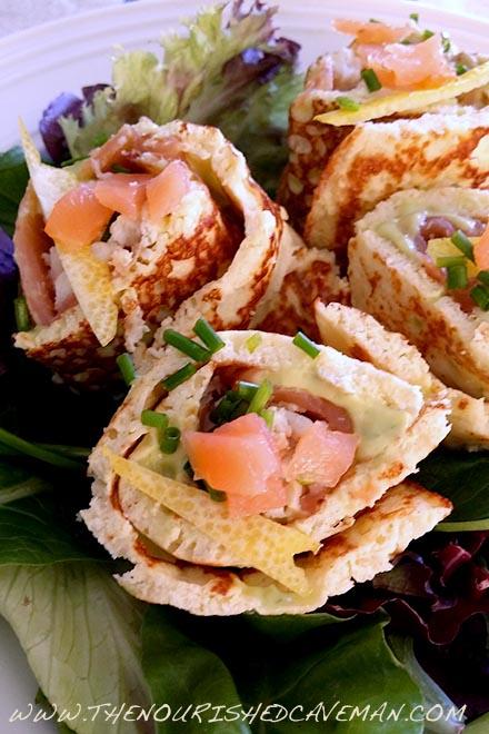 Smoked Salmon and Creamy Avocado Keto Wraps By The Nourished Caveman 3