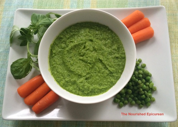 The Nourished Epicurean_Sweet Pea Dip with Basil