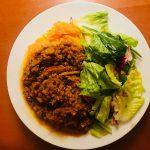 Lamb ragu & butternut squash noodles