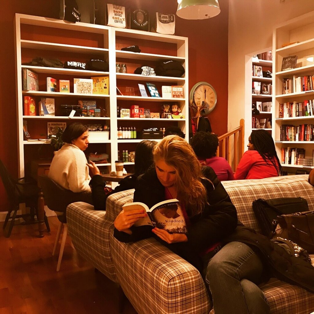 Black owned book store lounge