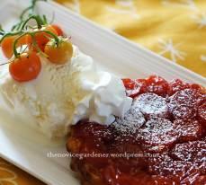 tomato tarte tatin with ice cream