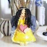 handmade fabric angel ornament