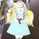 handmade paper angel ornament