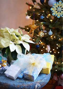 blue and yellow christmas