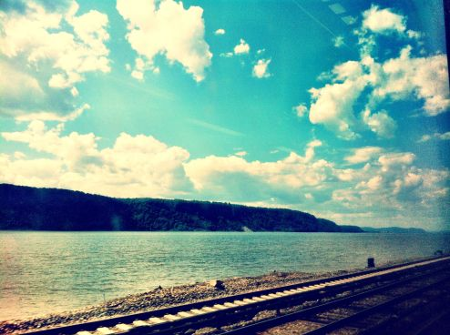 The Metro North to Poughkeepsie on the Hudson line