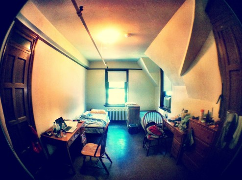 My dorm room in the Cushing House at Vassar