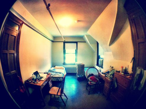My dorm room in the Cushing House at Vassar
