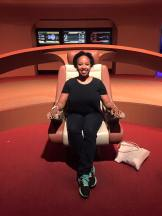 Pia makes the nicest Starfleet captain ever.