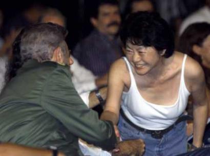Setsuko Ono and Fidel Castro