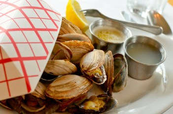 clams at the ocean house in hudson valley