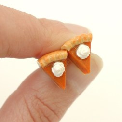 pumpkin pie stud earrings best foodie gift