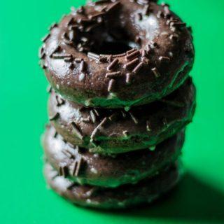 Chocolate Doughnuts with Espresso Glaze | www.thenutfreevegan.net