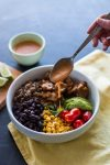 Southwest Buddha Bowl with Agave Lime Seitan | www.thenutfreevegan.net