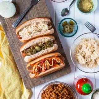 All-American Vegan Hot Dogs, Three Ways | www.thenutfreevegan.net