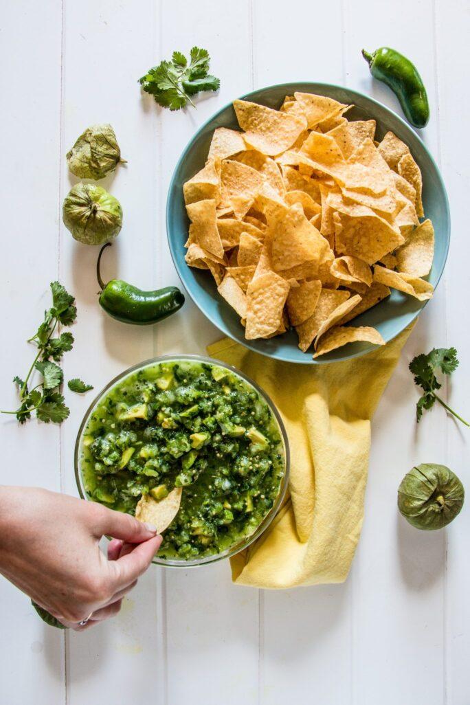 Delicious salsa de aguacate with avocado