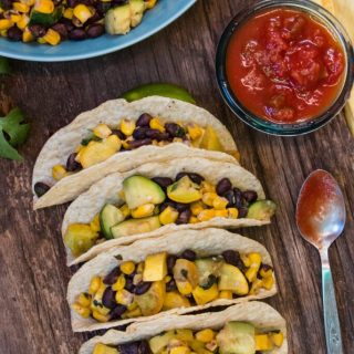Vegan Calabacitas Tacos   www.thenutfreevegan.net