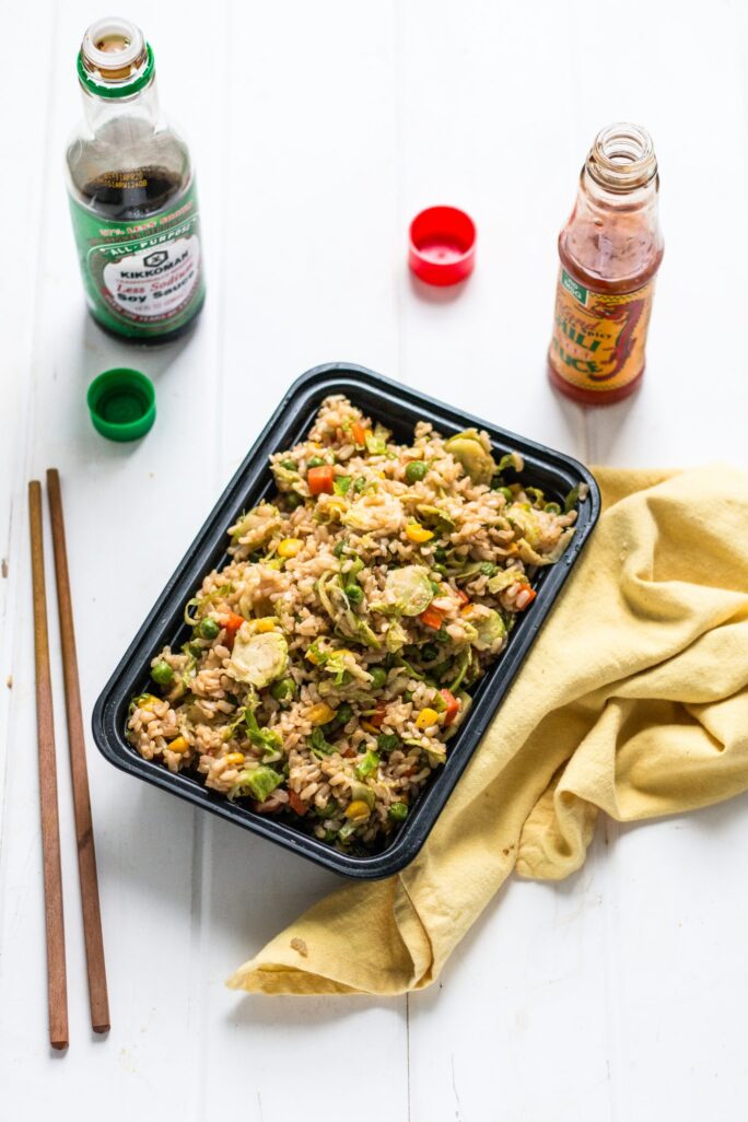 Simple Delicious Chinese Takeout Brussels Sprouts Fried Rice