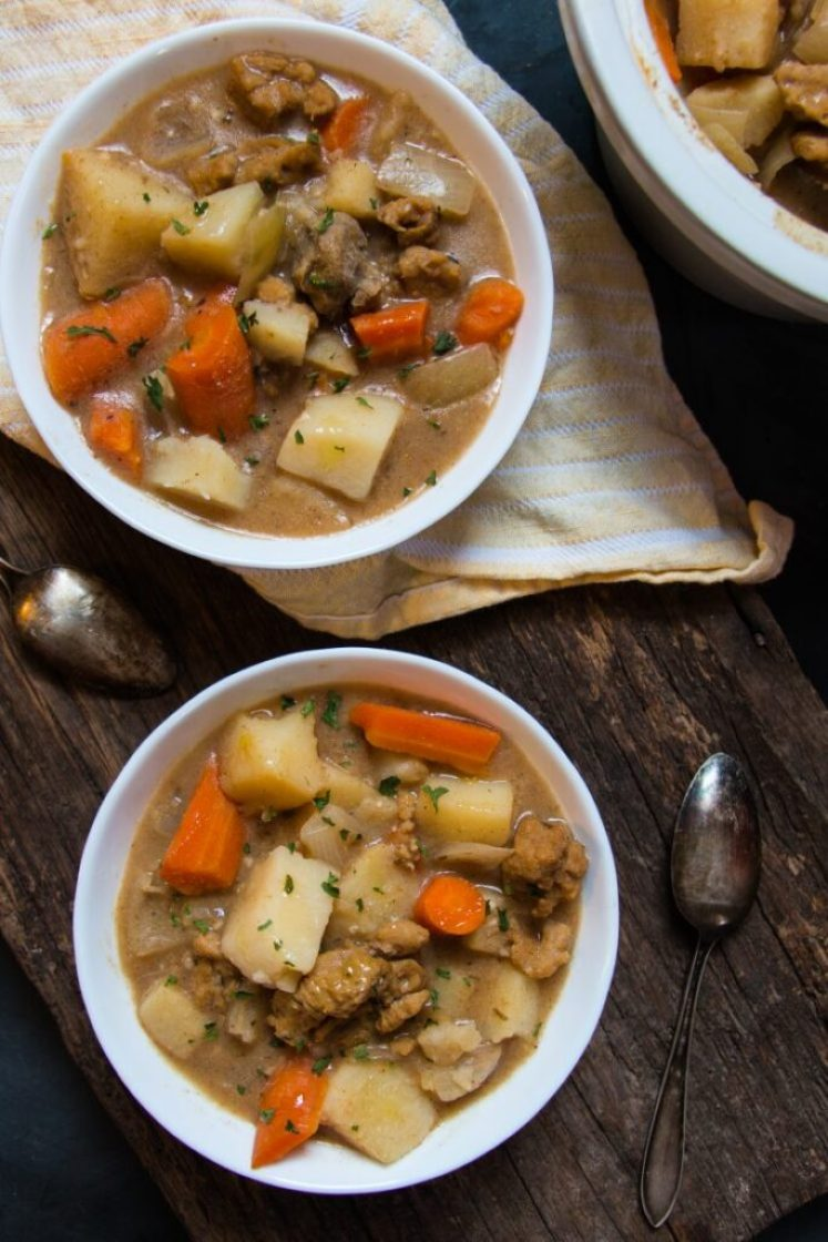 Easy Vegan Irish Stew with Seitan nutfreevegan