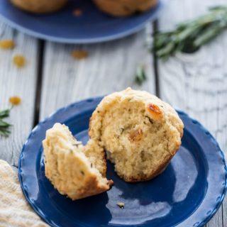 Golden Raisin and Rosemary Muffins