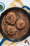 Meat-Free Salisbury Steak-vegan nutfreevegan