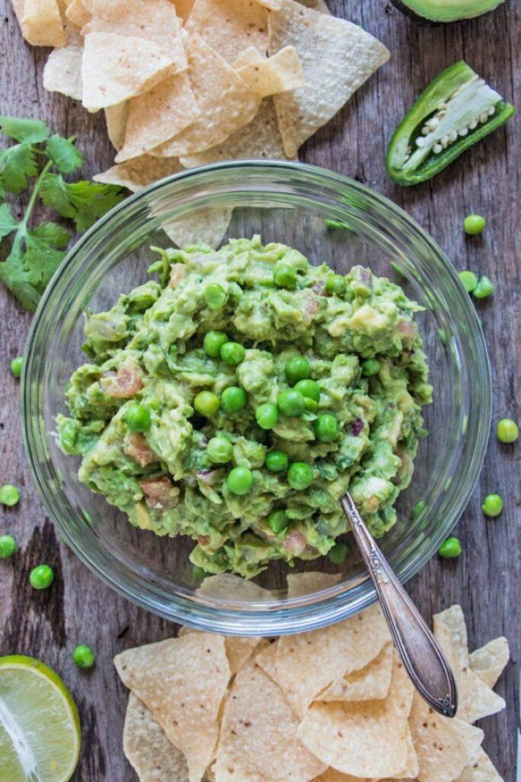 Green Pea Guacamole Cinco de Mayo