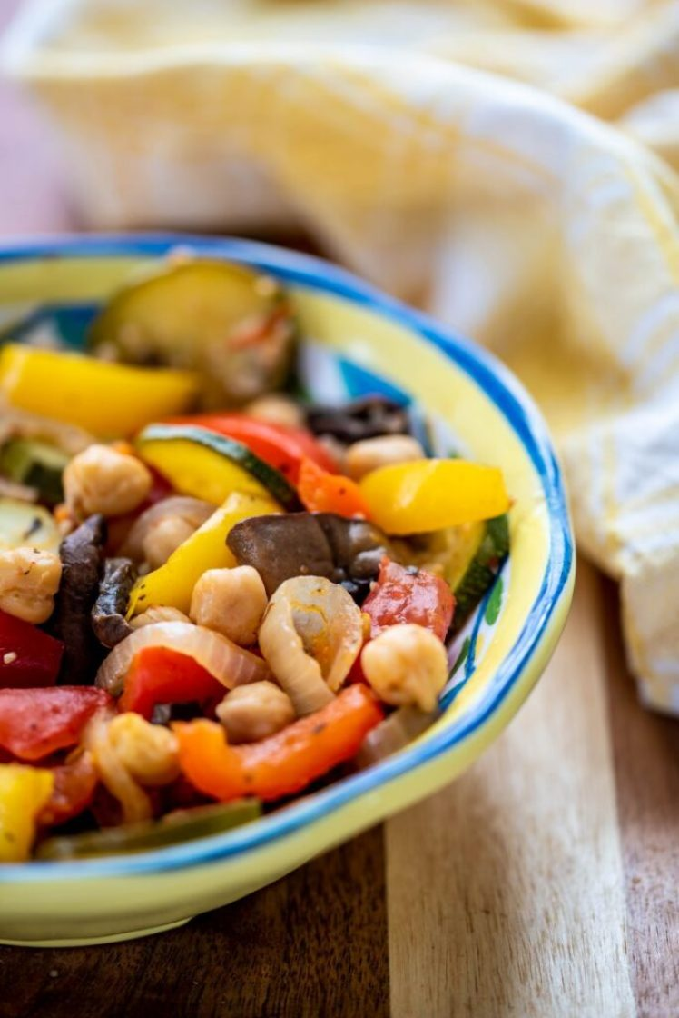 Easy Vegan Portobello Ratatouille gluten-free nutfreevegan