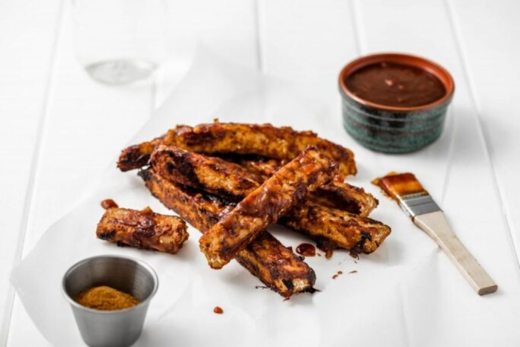 Vegan Barbecue Tempeh Ribs nutfreevegan