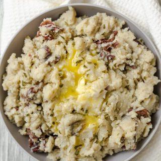 Slow Cooker Smashed Potatoes Nutfreevegan