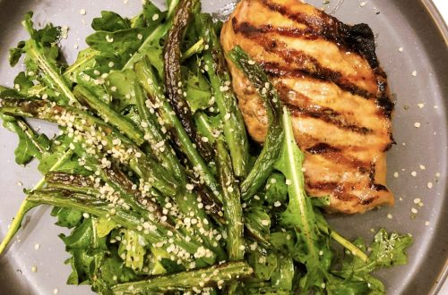 paleo pork chops with roasted green beans