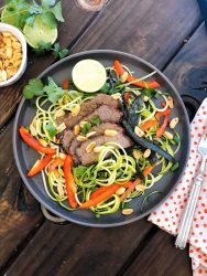 Asian Zucchini Noodle Salad