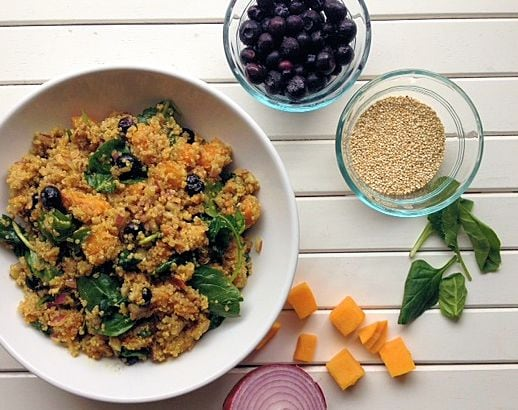 Wild Blueberry-Quinoa Power Salad