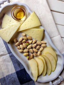 Mediterranean-Inspired Pistachio Cheese Plate