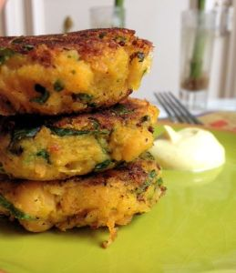 Curried Squash & Chickpea Cakes