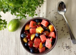Lavender & Basil Summer Fruit Salad