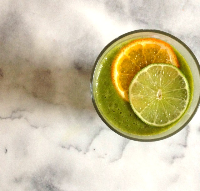 Tangerine Lime Green Smoothie