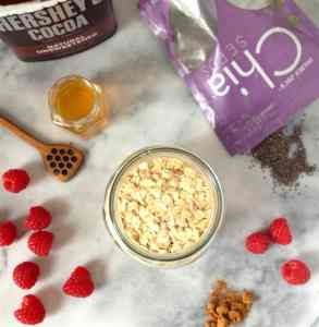 Mocha Raspberry Overnight Oats