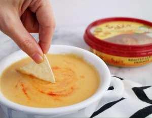 Beer Hummus Cheese Dip