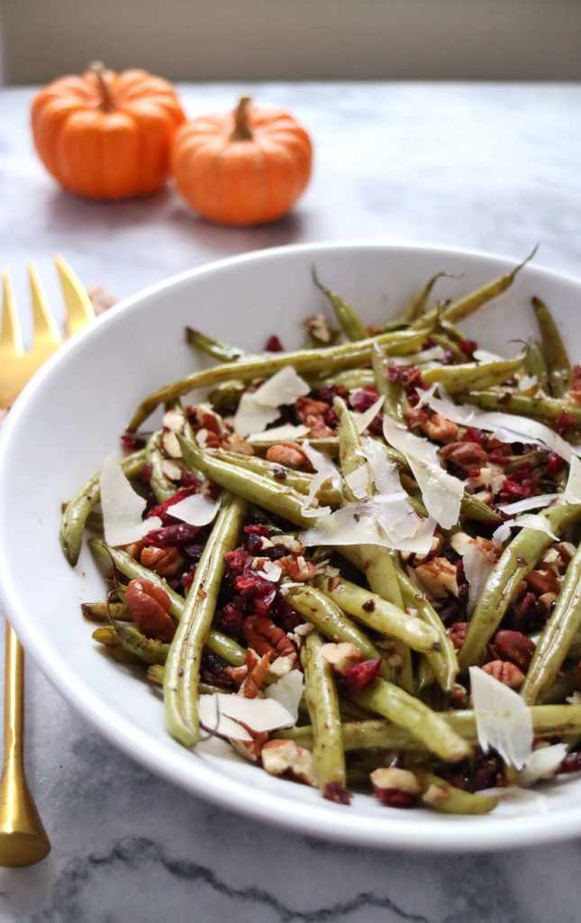 Green Beans with Pecans Cranberries & Parmesan