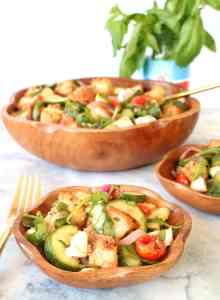 Roasted Summer Vegetable Panzanella