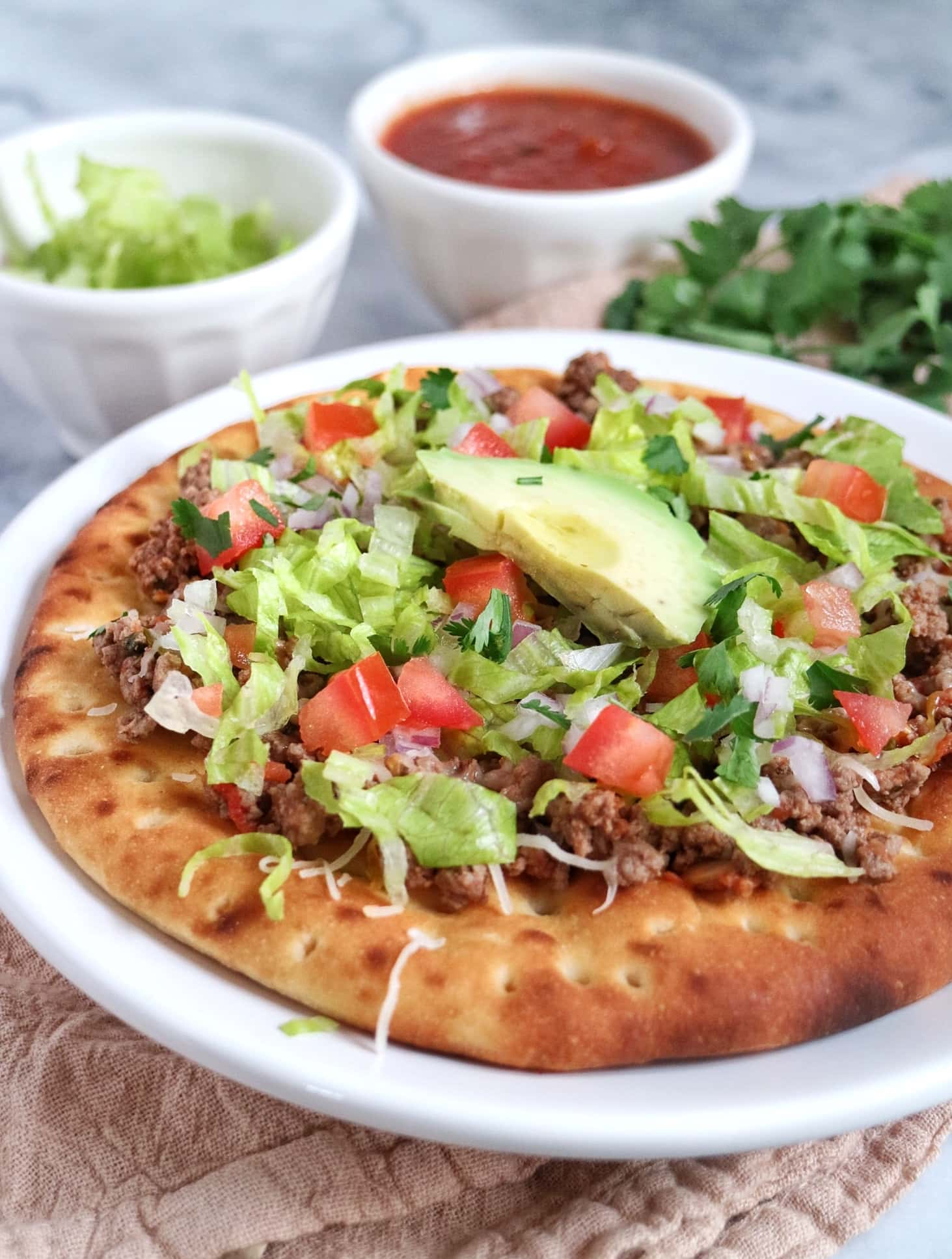 Taco Pita Pizza