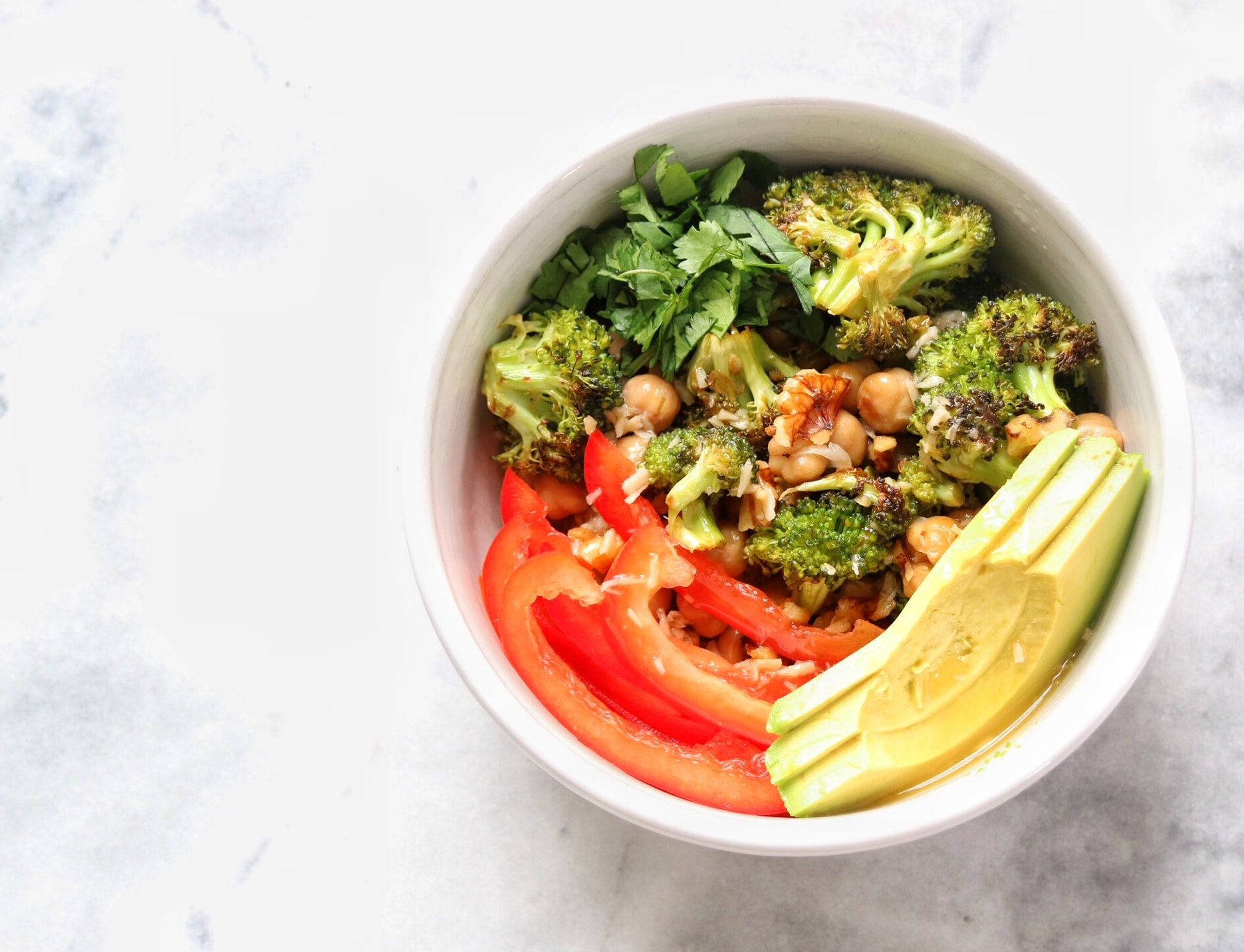Tropical Chickpea Walnut Quinoa Bowl