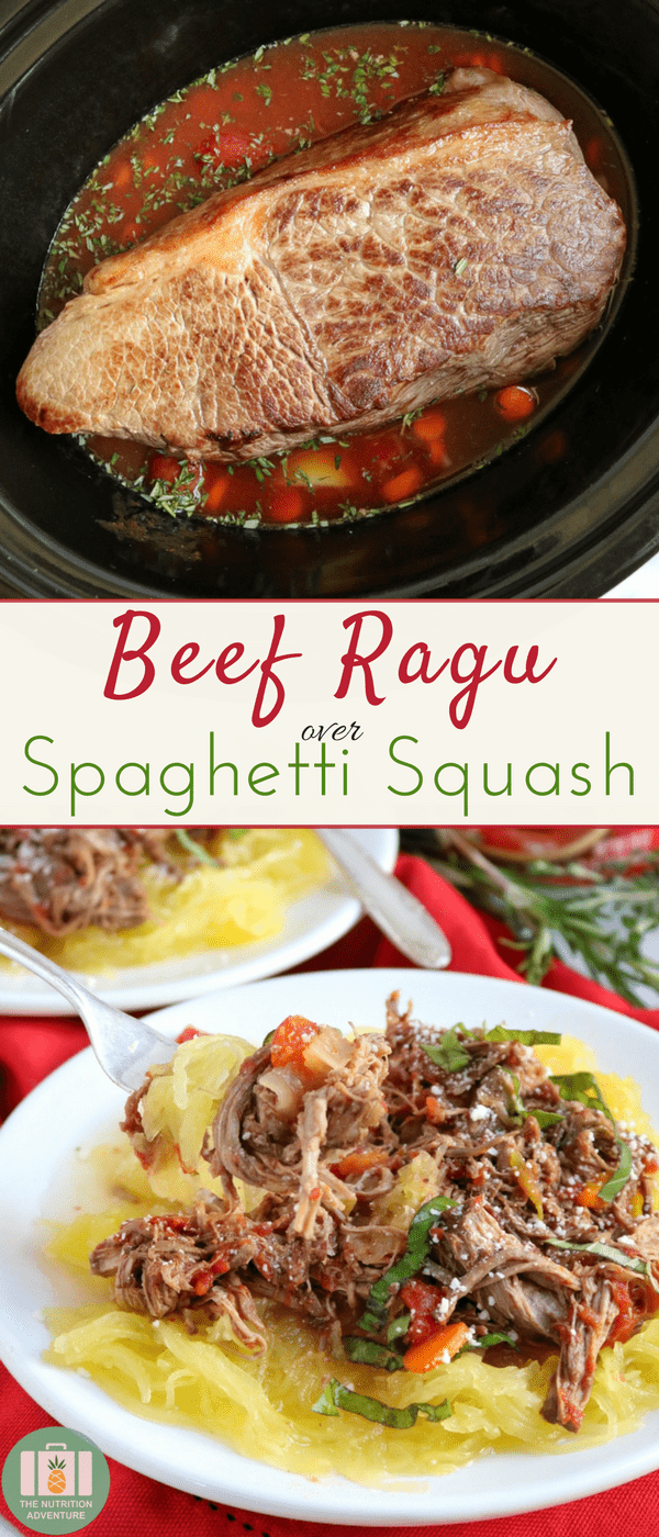 Beef Ragu over Spaghetti Squash | The Nutrition Adventure