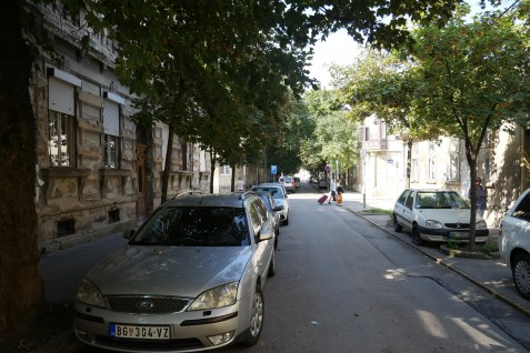 Dubrovacka street, central street of the former Jewish ghetto in Zemun