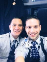 My classmate Josh, Me, and Olaf going to Sao Paulo.