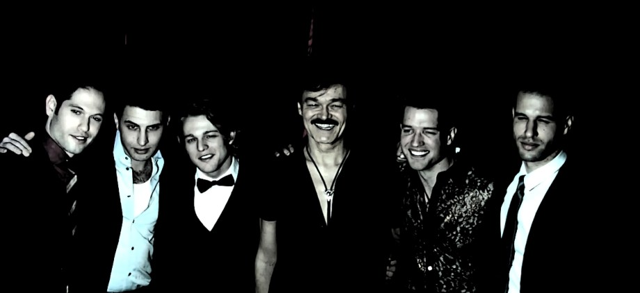 "Randy Jones of The Village People With cast of ""In Between Men"""