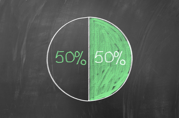 50 50 split digital sales