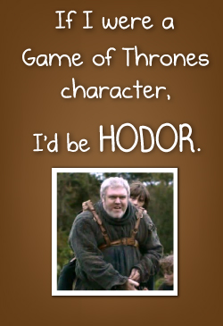 Which Game of Thrones character would you be?