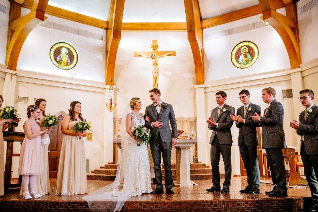 wv winter wedding happy wedding party