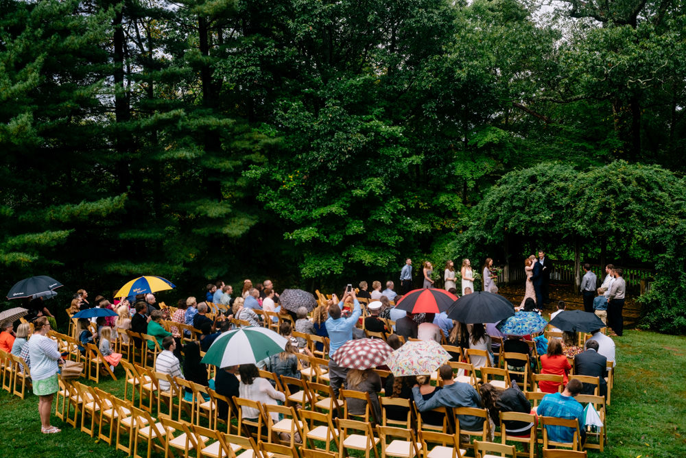 first kiss rainy wedding ceremony benedict haid west virginia
